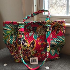 Vera Bradley Hadley East West Tote in Rumba